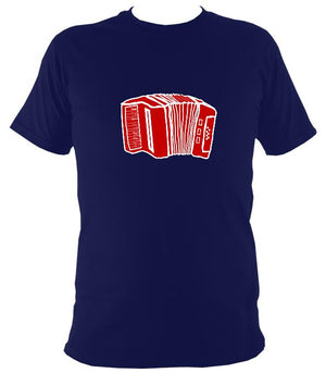 Accordion Sketch T-shirt - T-shirt - Navy - Mudchutney