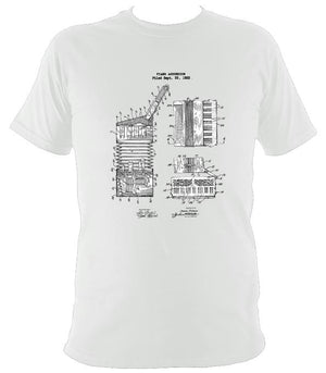 Accordion Patent T-shirt - T-shirt - White - Mudchutney