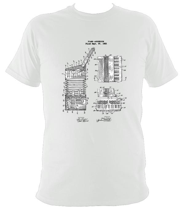 Piano Accordion Patent Drawings T Shirt Accordion Shirt Mudchutney