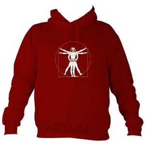 Da Vinci Vitruvian Man Playing Concertina Hoodie-Hoodie-Red hot chilli-Mudchutney