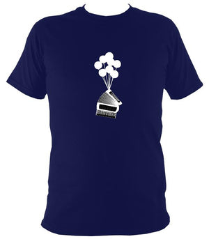 Banksy Style Accordion T-shirt - T-shirt - Navy - Mudchutney