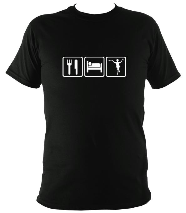 Eat, Sleep, Dance Morris T-shirt - T-shirt - Black - Mudchutney