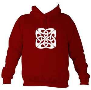 Celtic Square-ish Design Hoodie-Hoodie-Red hot chilli-Mudchutney