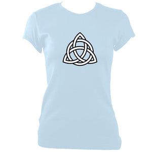 update alt-text with template Celtic Triangular Knot Ladies Fitted T-shirt - T-shirt - Light Blue - Mudchutney