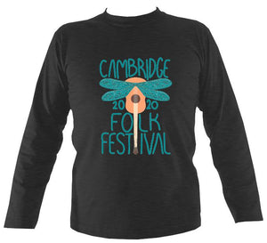 Cambridge Folk Festival - Design 1 - Mens Long Sleeve Shirt - Long Sleeved Shirt - Dark heather - Mudchutney