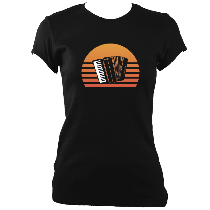 Accordion Sunset Women's Fitted T-shirt