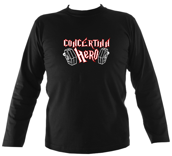 Concertina Hero Mens Long Sleeve Shirt