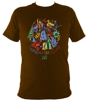 Cambridge Folk Festival - Design 9 - T-shirt - T-shirt - Dark Chocolate - Mudchutney