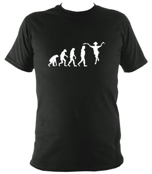 Evolution of Morris Dancers T-shirt - T-shirt - Forest - Mudchutney