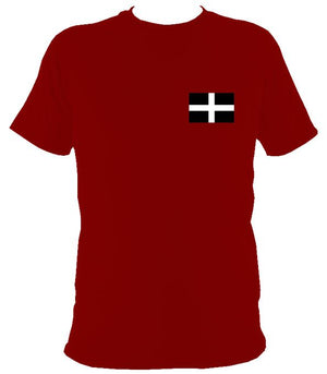 Cornish Flag T-Shirt - T-shirt - Cardinal Red - Mudchutney