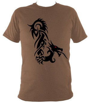 Tribal Dragon T-shirt - T-shirt - Russet - Mudchutney