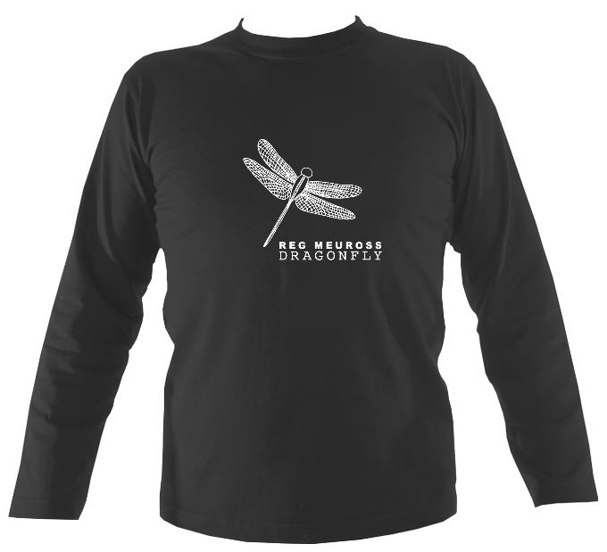 "Reg Meuross ""Dragonfly"" Mens Long Sleeve Shirt - Long Sleeved Shirt - Charcoal - Mudchutney"