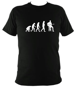 Evolution of Guitar Players T-shirt - T-shirt - Black - Mudchutney