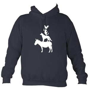 Animal Band Hoodie-Hoodie-Denim-Mudchutney