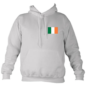 Irish Flag Hoodie-Hoodie-Moondust grey-Mudchutney
