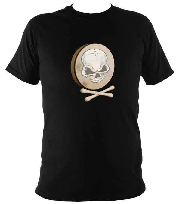Bodhran Skull and Crosstippers T-shirt - T-shirt - Black - Mudchutney