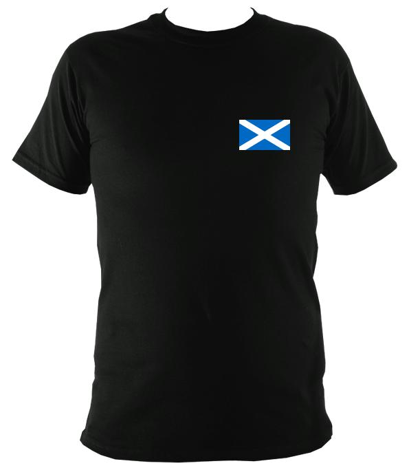 Scottish Saltire Flag T-shirt - T-shirt - Black - Mudchutney