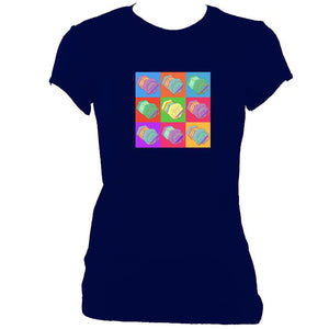 Warhol style Anglo Concertina Ladies Fitted T-shirt