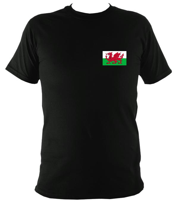 Welsh Dragon Flag T-shirt - T-shirt - Black - Mudchutney
