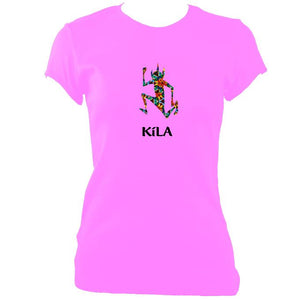 update alt-text with template Kila Ladies Fitted T-shirt - T-shirt - Azalea - Mudchutney
