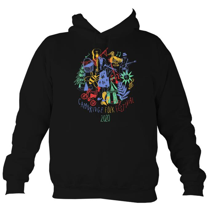 Cambridge Folk Festival - Design 9 - Hoodie-Hoodie-Jet black-Mudchutney