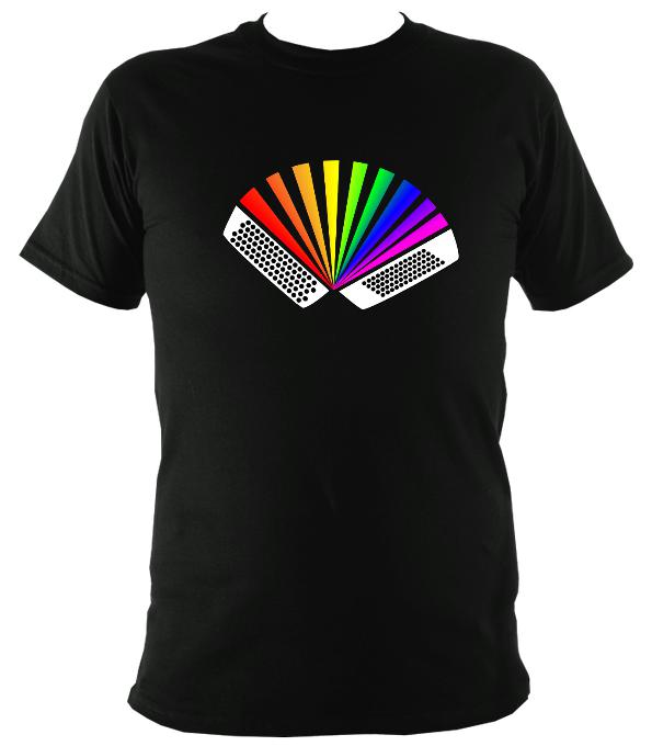 Rainbow Chromatic Accordion T-shirt - T-shirt - Black - Mudchutney