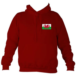 Welsh Dragon Flag Hoodie-Hoodie-Red hot chilli-Mudchutney