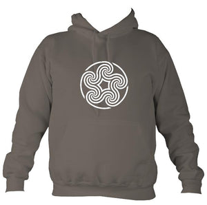 Celtic Five Spiral Hoodie-Hoodie-Mocha brown-Mudchutney