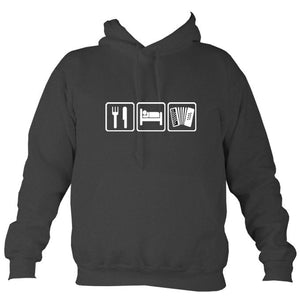 Eat, Sleep, Play Melodeon Hoodie-Hoodie-Charcoal-Mudchutney