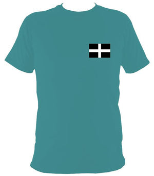 Cornish Flag T-Shirt - T-shirt - Jade Dome - Mudchutney
