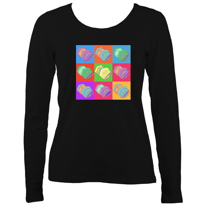 Warhol style Concertina Ladies Long Sleeve T-shirt