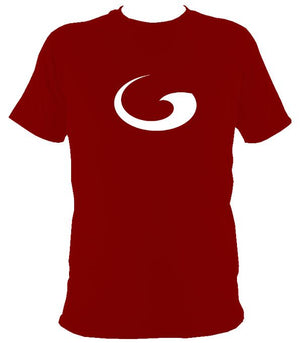 Tribal Wave T-shirt - T-shirt - Cardinal Red - Mudchutney