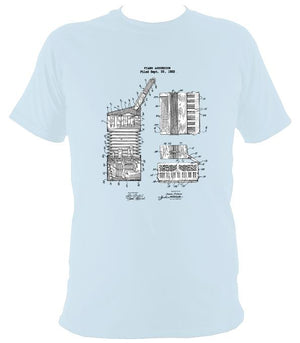 Accordion Patent T-shirt - T-shirt - Light Blue - Mudchutney