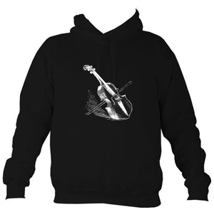 Fiddle and Bow Sketch Hoodie-Hoodie-Jet black-Mudchutney