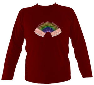 Rainbow Accordion Mens Long Sleeve Shirt-Mens Long Sleeve T-shirt-Mudchutney