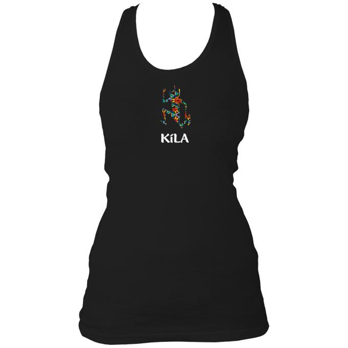 "Kila ""After Eight"" Ladies Racerback Vest"