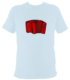Accordion Sketch T-shirt - T-shirt - Light Blue - Mudchutney