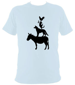 Animal Band T-shirt - T-shirt - Light Blue - Mudchutney
