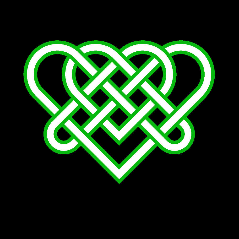 Green Celtic Triple Hearts Knot Racerback Vet