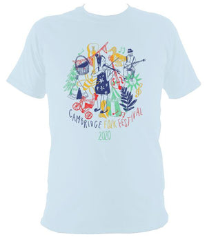 Cambridge Folk Festival - Design 9 - T-shirt - T-shirt - Light Blue - Mudchutney