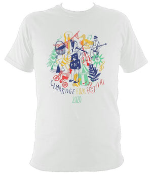 Cambridge Folk Festival - Design 9 - T-shirt - T-shirt - White - Mudchutney