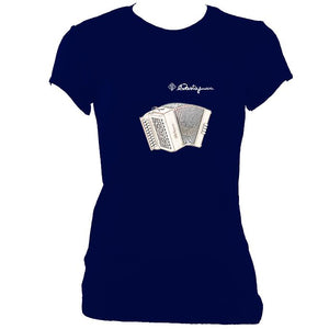 update alt-text with template Castagnari Tommy Ladies Fitted T-shirt - T-shirt - Navy - Mudchutney