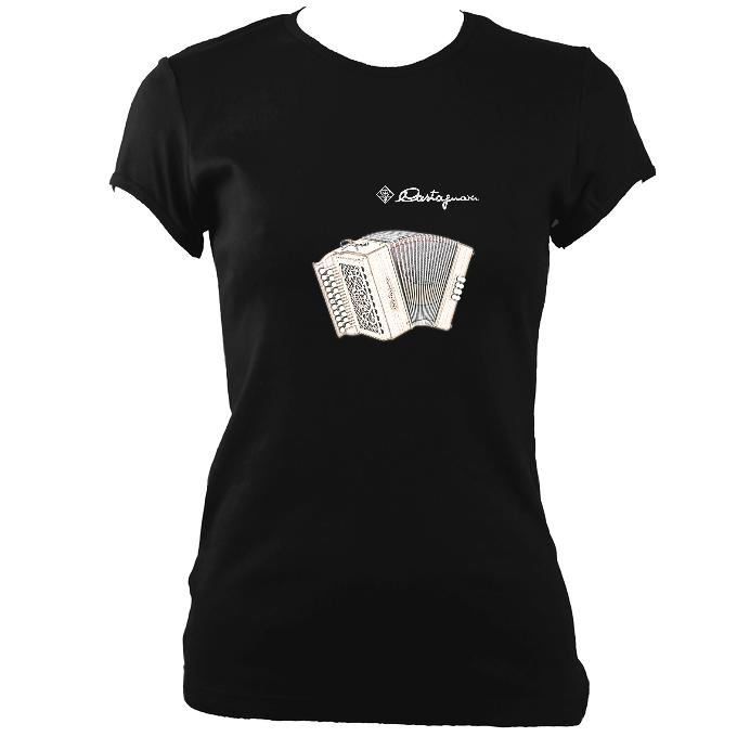 update alt-text with template Castagnari Tommy Ladies Fitted T-shirt - T-shirt - Black - Mudchutney