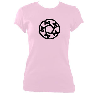 update alt-text with template Celtic Wheel Ladies Fitted T-shirt - T-shirt - Light Pink - Mudchutney
