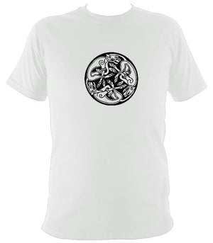 Celtic Tribal Spiral T-shirt - T-shirt - White - Mudchutney
