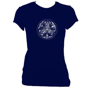 Celtic Birds Ladies Fitted T-shirt