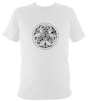 Traditional Celtic Birds T-shirt - T-shirt - White - Mudchutney