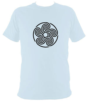 Celtic Five Spiral T-shirt - T-shirt - Light Blue - Mudchutney