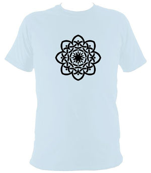 Inter-woven Celtic Flower T-shirt - T-shirt - Light Blue - Mudchutney