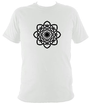 Inter-woven Celtic Flower T-shirt - T-shirt - White - Mudchutney